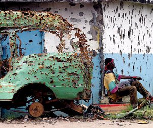 bullets, liberia, and war image