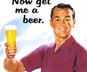 beer, love, and man image