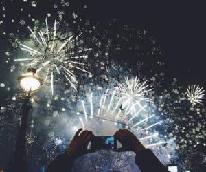 fireworks, light, and grunge image