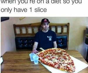 diet, pizza, and wtf image