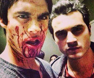 tvd, enzo, and ian somerhalder image