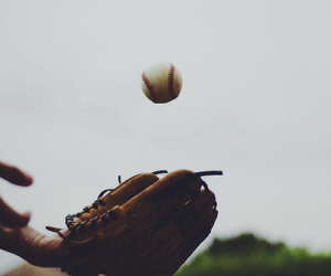 baseball, glove, and sport image
