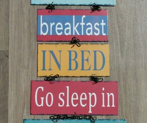 bed, breakfast, and decoration image