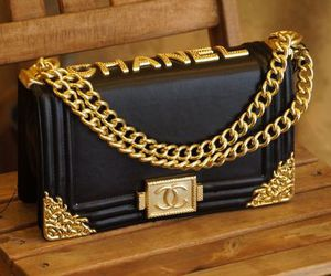 chanel, bag, and gold image