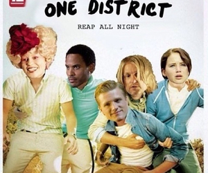one direction, katniss, and hunger games image
