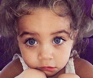eyes, girl, and baby image