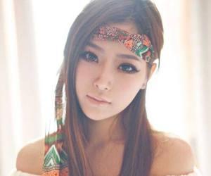 asia, beautiful, and girl image