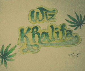drawing, graffiti, and wiz khalifa image