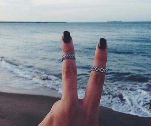 beach, ocean, and rings image