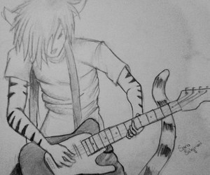 drawing, sara+sulejmani, and guitar image