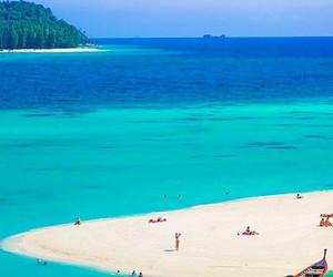 beach, blue, and thailand image