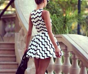 black white, clothes, and fashion image
