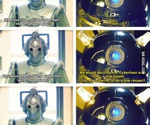 cyberman, Dalek, and doctor who image