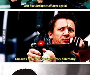 black widow, funny, and hawkeye image