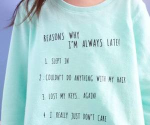 Late and reasons image