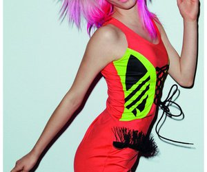 colored hair, dyed hair, and punk image