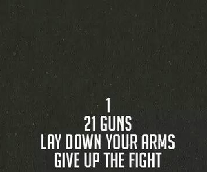 black and white, green day, and 21 guns image