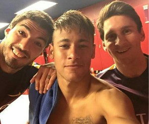 neymar, messi, and suarez image