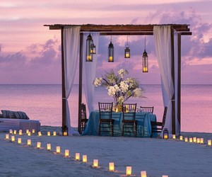 romantic, beach, and evening image