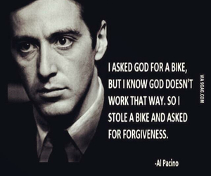 quotes, al pacino, and god image