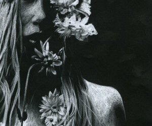 flowers and hippie image