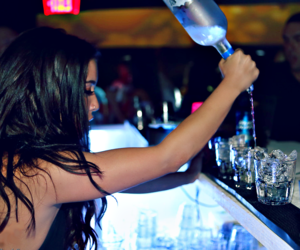 brunette, drink, and party image