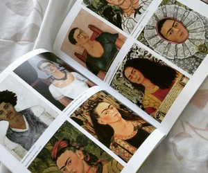 art, frida kahlo, and book image