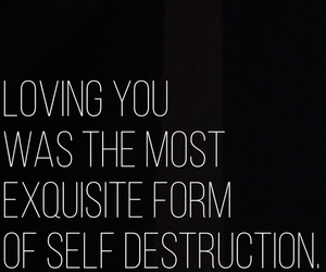 break up, loving you, and self distruction image