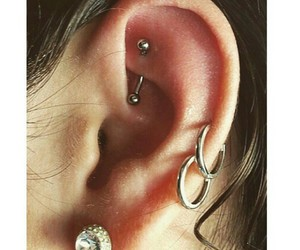 beauty, piercing, and vibe image