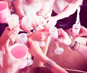 champagne, cheers, and girlfriends image