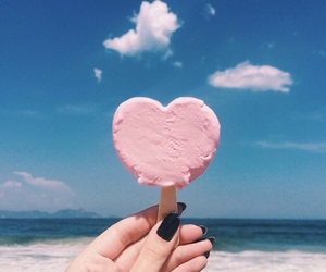 heart, summer, and ice cream image