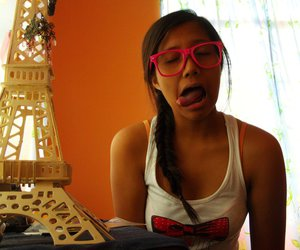 bow, eiffel tower, and shades image