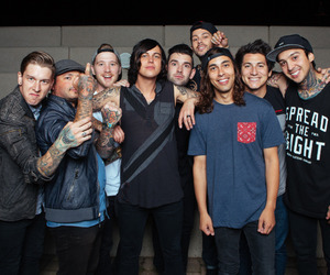 pierce the veil, sleeping with sirens, and mike fuentes image