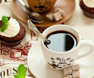 cup cake and coffee time image