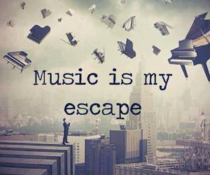 music, escape, and quotes image