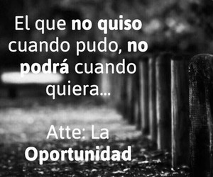 opportunity, frases, and querer image