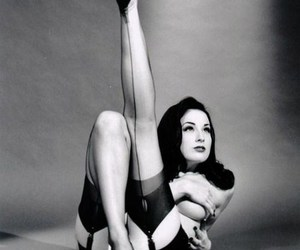beauty, black and white, and Dita von Teese image