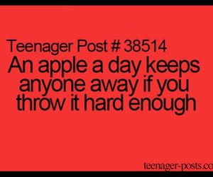 funny, apple, and jokes image