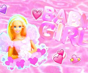 baby, water, and barbie image