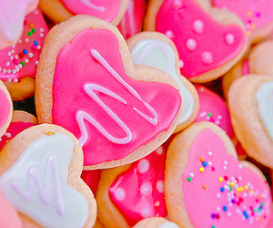 pink, Cookies, and food image
