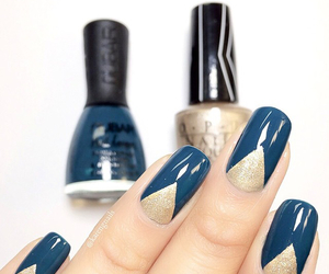 blue, glitter, and gold image