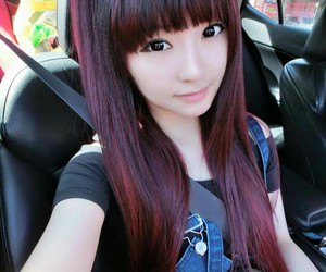 beautiful, japanese, and red hair image