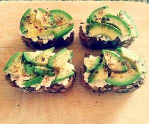 avocado, cottage cheese, and fitness image
