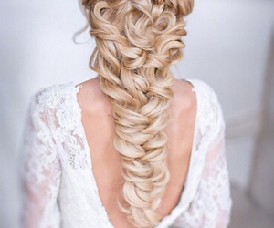 beauty, braid, and brides image