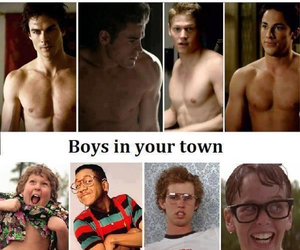 boys, funny, and damon salvatore image