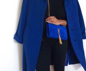 blue, fashion, and YSL image