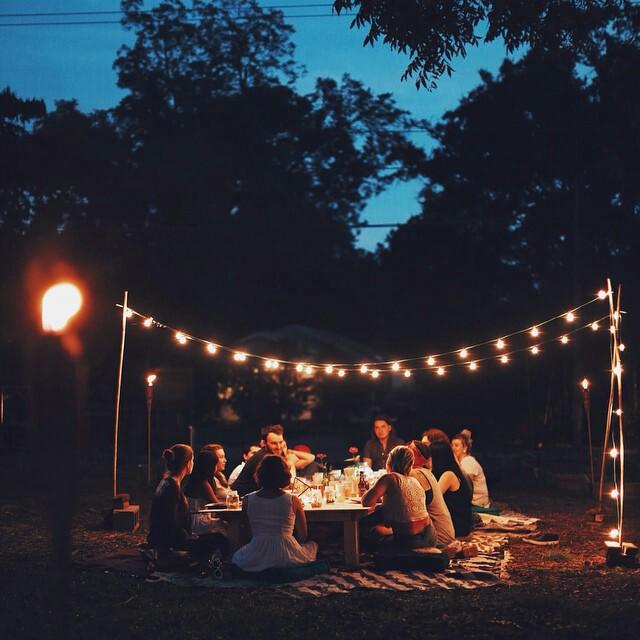 friends, light, and night image