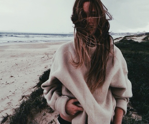 90s, beach, and jumper image