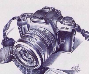 camera, art, and drawing image