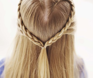 hair, heart, and braid image